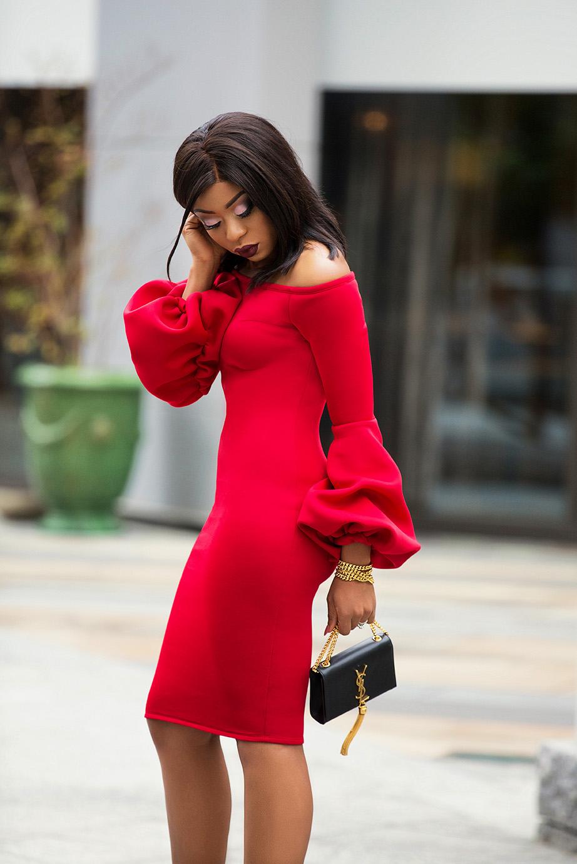 Holiday red dress, www.jadore-fashion.com