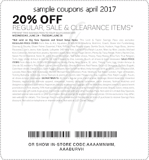 Lord & Taylor coupons april 2017