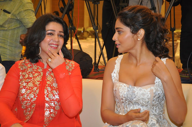 Charmme, Shriya Saran and Muskan Sethi at Paisa Vasool Audio Success Meet