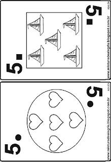 Baralho numerais quantidades e geometria