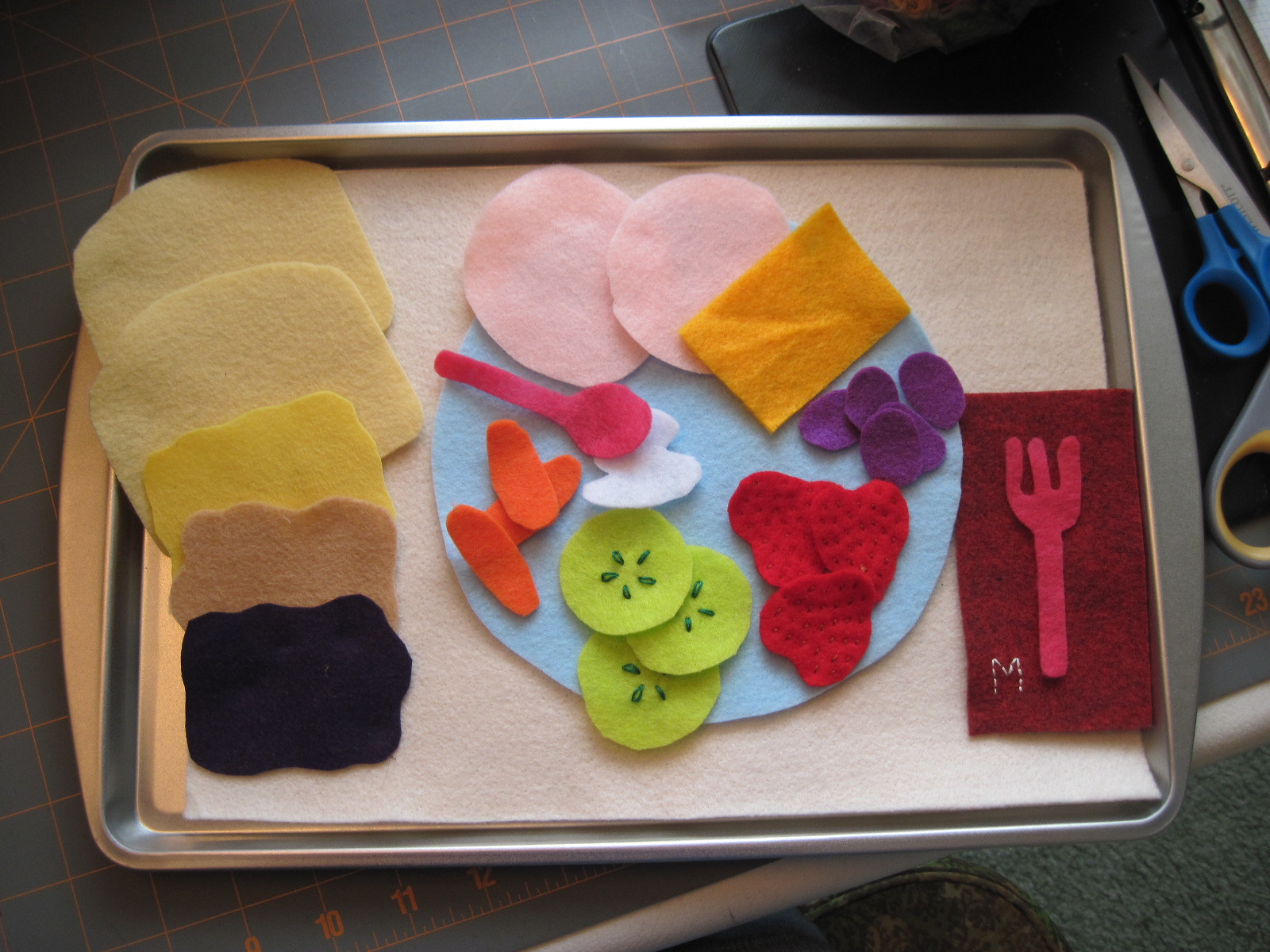 Chaos To Art Busy Bag 3 Felt Food