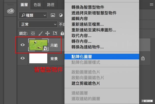 Adobe Photoshop 內容感知移動工具 - 點陣化圖層