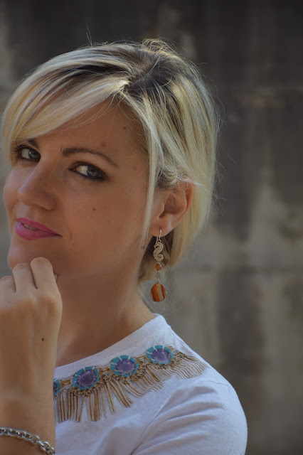 mariafelicia magno fashion blogger color block by felym fashion blog italiani blogger italiane di moda orecchini sara greco gioielli ragazze bionde blonde girls blonde hair blondie web influencer italiane