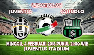 Prediksi Juventus vs Sassuolo 4 Februari 2018