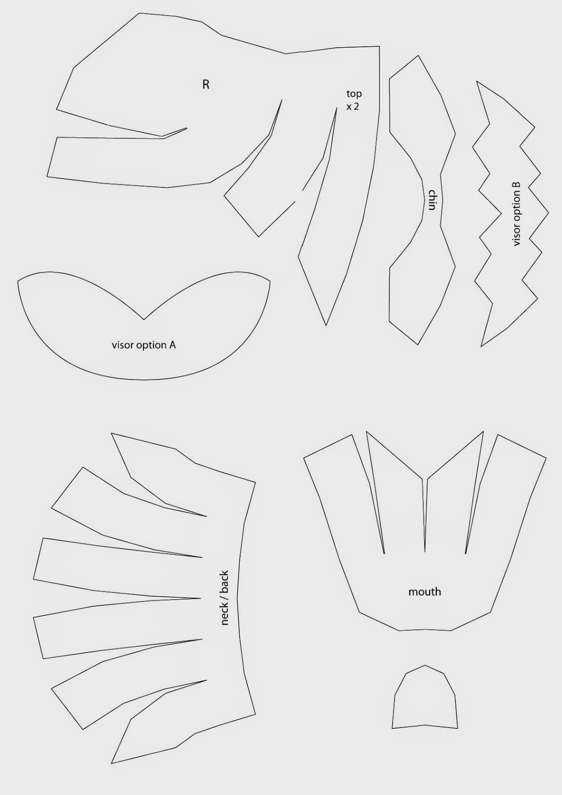 Power Ranger Helmet Template