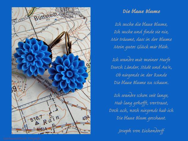 GeschmeideReich Ohrringe Blaue Blume