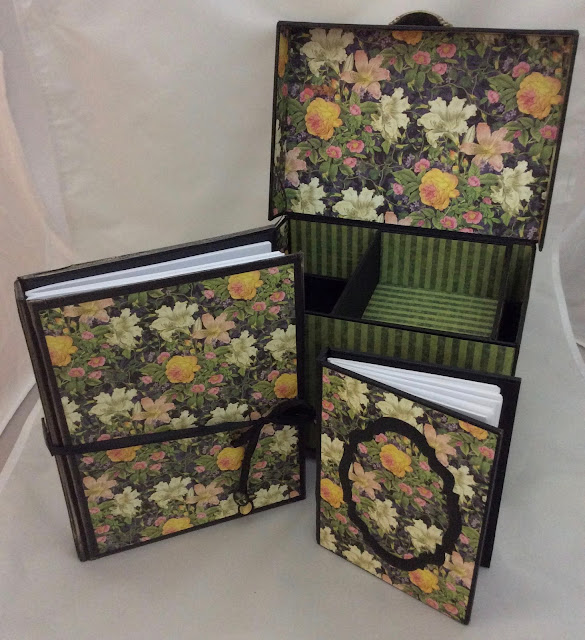 Floral Shoppe Altered Box and Journals Clare Charvill Graphic 45