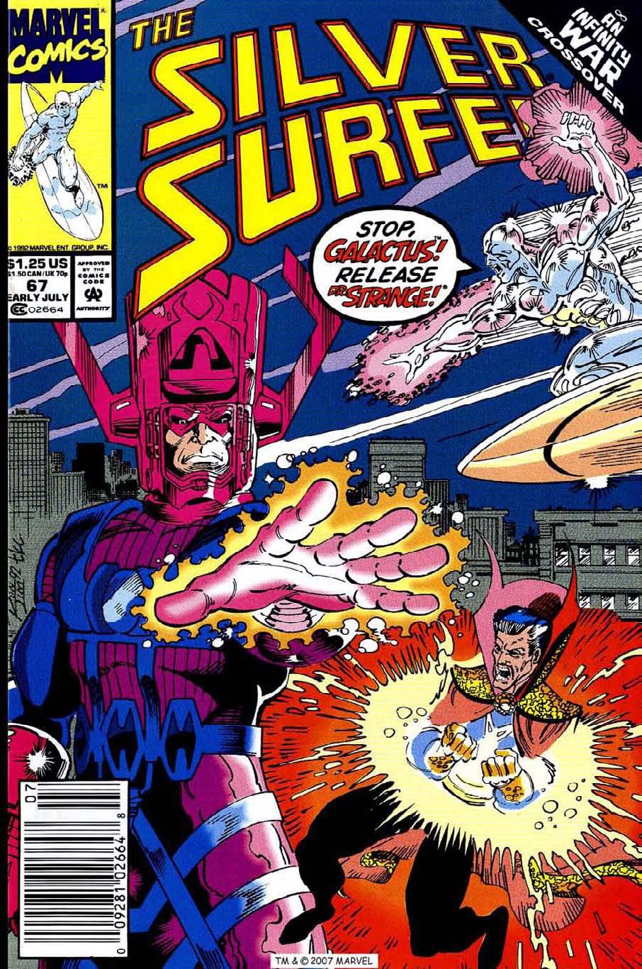 Read online Silver Surfer (1987) comic -  Issue #67 - 1