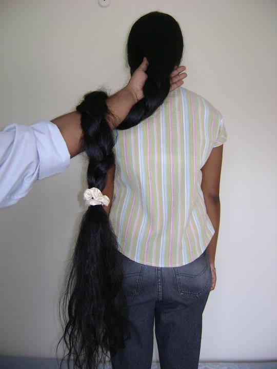 Hair Care And Beauty Tips Long Hair Model With Knee