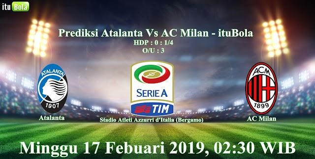Prediksi Atalanta Vs AC Milan - ituBola