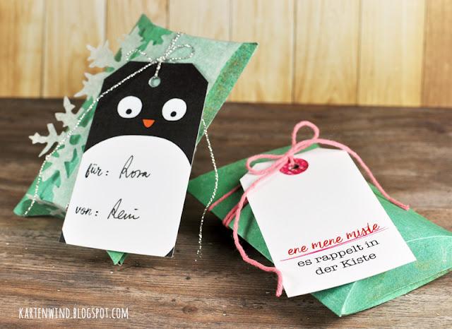 http://kartenwind.blogspot.com/2016/12/ene-mene-miste-es-rappelt-in-der-kiste-pillowbox-tags.html
