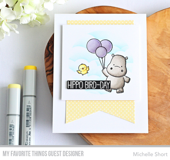 Handmade card by Michelle Short featuring products from My Favorite Things #mftstamps