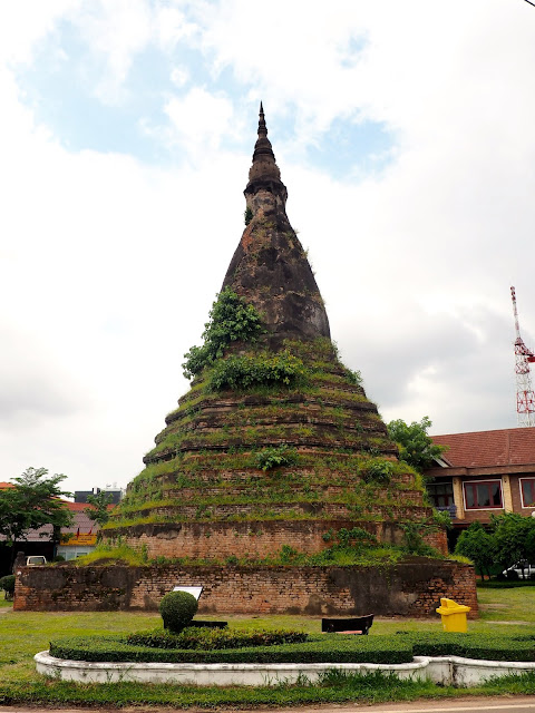 Black stupa in Vientiane, Laos