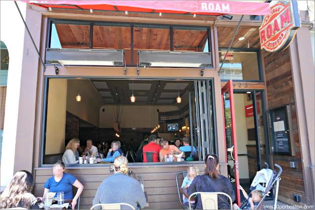 Terraza en Roam Artisan Burgers en San Francisco