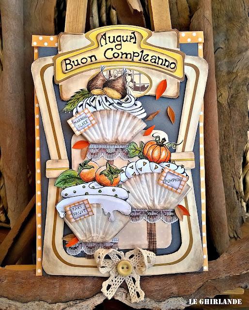 card sapori e colori autunno pirottini cupcake