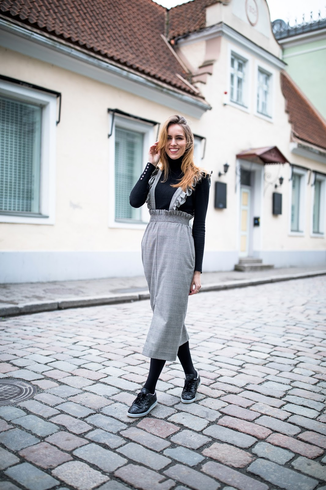 midi dress sneakers outfit