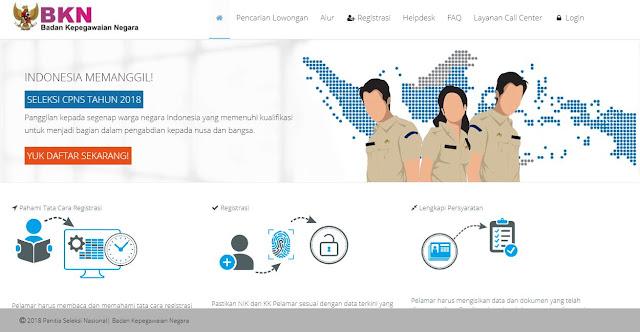 Portal Resmi Pendaftaran CPNS 2018 sscn.bkn.go.id dan Fitur Pencarian Formasi SSCN