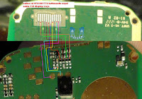 this is nokia 110 water damage or any other damage if your device display light is not on you need to repairing this light. i will share with you this diagram. please check this line show on image use your avometer if you find any line is broken re connect this line use copier coil i hope problem is solve. Nokia 110 Light Solution image diagram. before check line at first clean your device mother board using avo miter. after clean device is still showing problem. phone display light is not working you check this line using avo miter if any line is broken connect this line use copier coil.