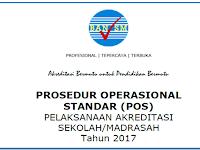 Prosedur Operasional Standar (POS) Akreditasi sekolah/Madrasah tahun 2017