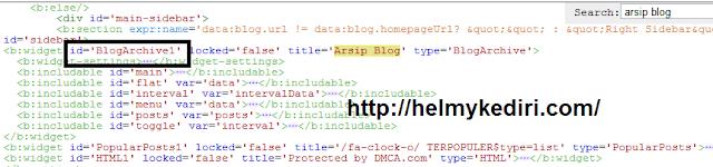 Cara menambahkan scrooll pada widget blog