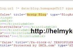 Cara menambahkan scroll pada widget blog