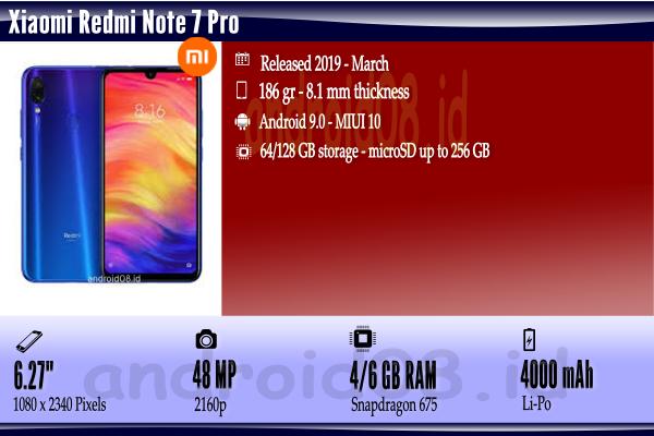 Spesifikasi Xiaomi Redmi Note 7 Pro