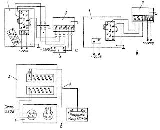 Схема внешних соединений газоанализаторов