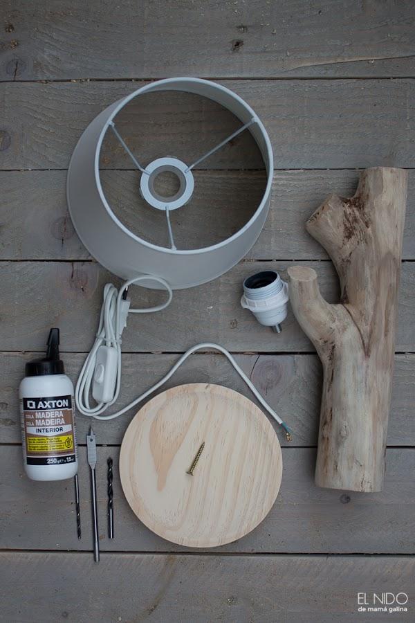 Lámpara con tronco