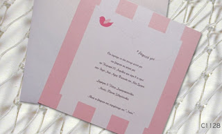 baby girl baptism invitations with pigeon