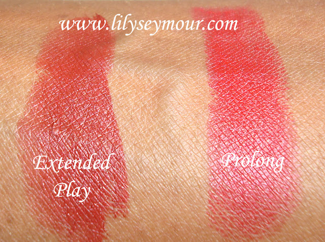Mac Extended Play & Prolong Extended Wear Lipsticks