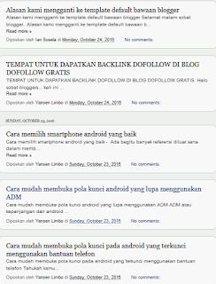 YemiSNOW adalah template default blogger yang responsive dan seo friendly