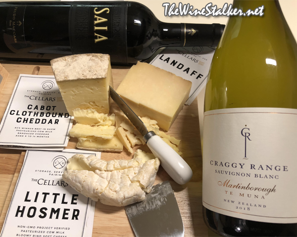 The Cheese Grotto, The Cellars of Jasper Hill Farm, Craggy Range Te Muna Sauvignon Blanc 2018, & Feudo Maccari Saia Nero D'avola 2015