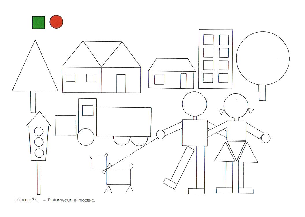 Dibujos De Figuras Geometricas Para Colorear E Imprimir: Rayito De Colores: Figuras Geométricas En Formas De Dibujos