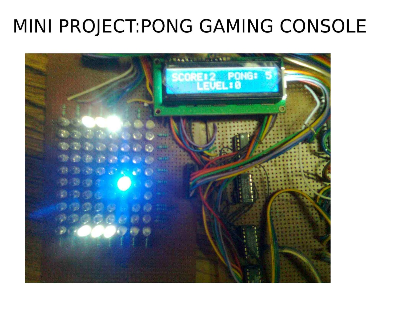 Technolabsz Pong Gaming Console My Mini Project Goes Opensource Electronics Projects Circuit Image