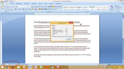 Cara Mengetahui Jumlah Kata dan Huruf di Microsoft Word