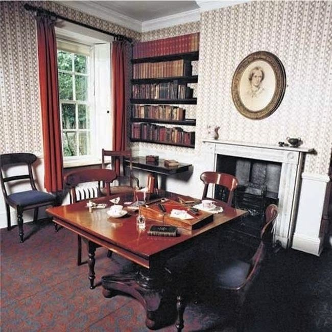 Workspaces Of The Greatest Artists Of The World (38 Pictures) - Charlotte Bronte, novelist and poet