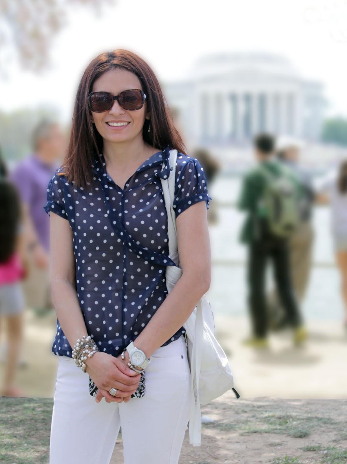 Cristina Garay at WW2 memorial Washington DC