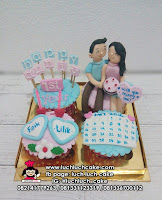 Cupcake Anniversary Romantis Fondant 3D