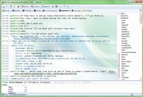 chat irc web