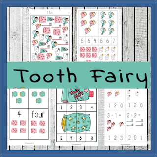 Tooth Fairy Preschool and Kindergarten Worksheets