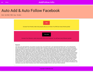 Auto add follow Facebook - addfollow.info