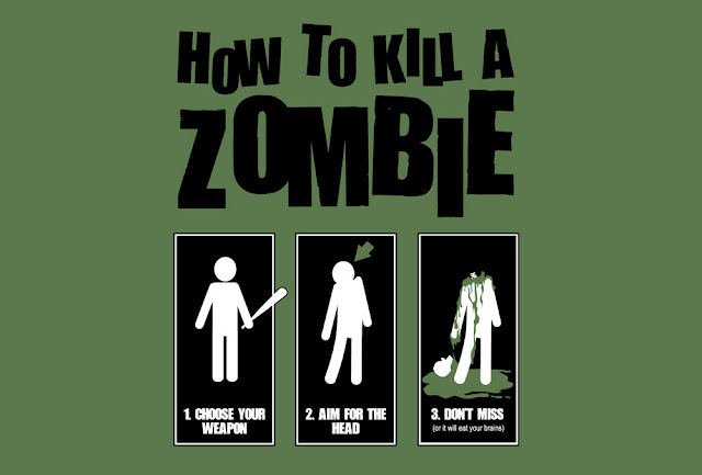 Funny Picture - How to kill a zombie