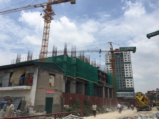 Tòa HH03 xây dựng đến tầng 4