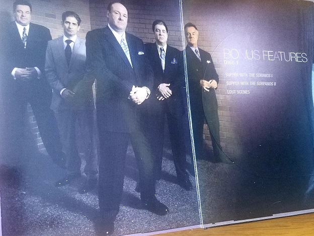 this was the men in the series Sopranos with Tony Soprano. This is a photo from the box set I own.