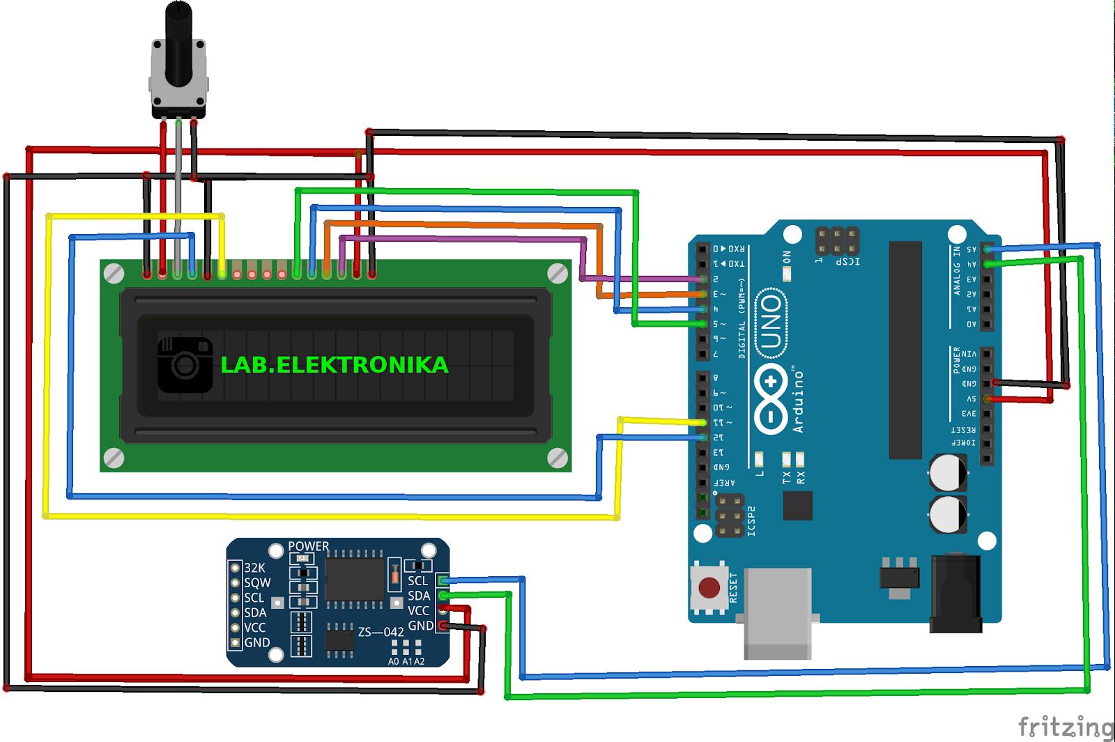 TUTORIAL MEMBUAT JAM DIGITAL MENGGUNAKAN RTC DS3231 DAN LCD KARAKTER ... bb6ef36f1e