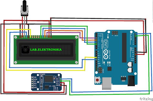 Wiring Jam Digital Menggunakan Arduino