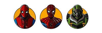 Spider-Man Homecoming Enamel Pins by DKNG x Mondo
