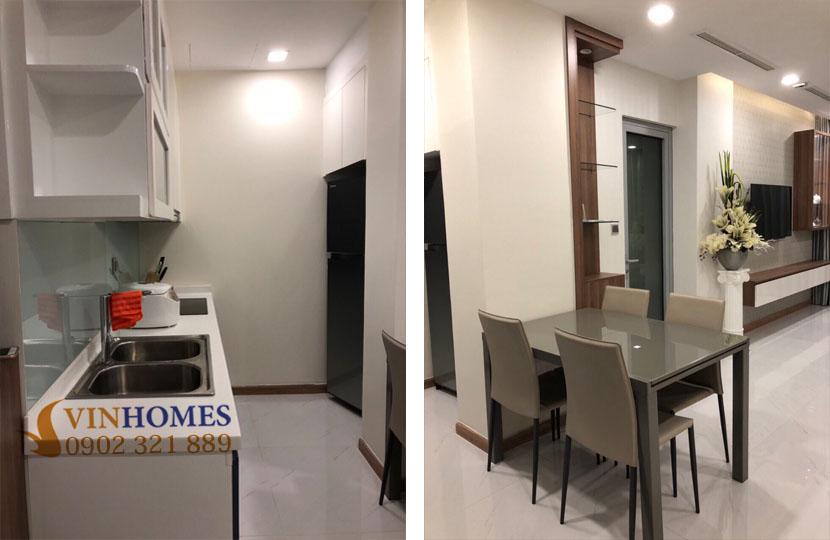 Chủ nhà bán gấp căn hộ Vinhomes tòa Park 5 có nội thất nhà đẹp | bếp và bàn ăn
