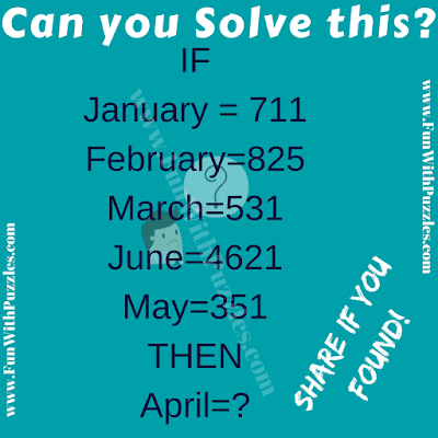 If January=711, February=825, March=531 Then April=?