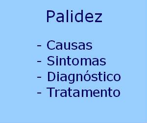 Palidez causas sintomas diagnóstico tratamento